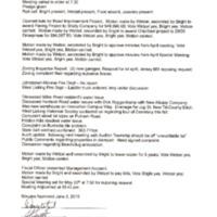 Trustee Minutes Regular Meeting May 6 2019