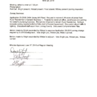 Trustee Special Meeting Rezoning