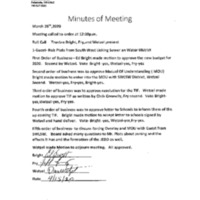 Minutes March 28th 2020 Special Meeting Trustees